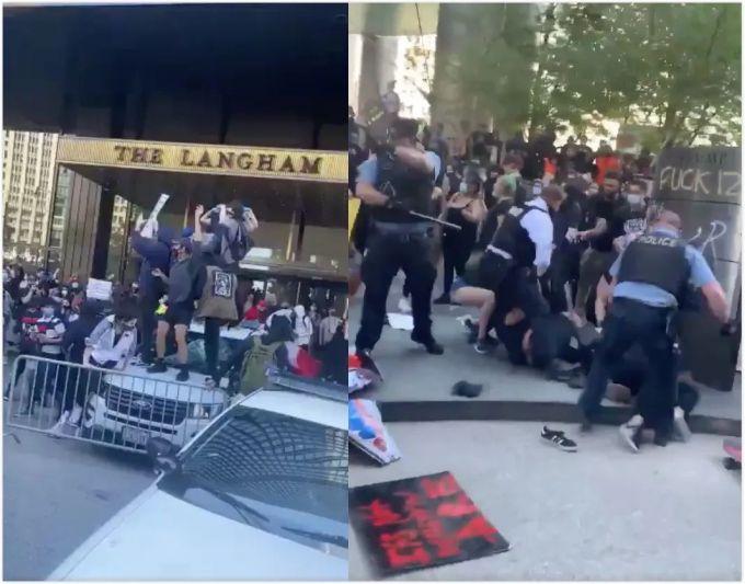 芝加哥特朗普大厦被抗议者占领,星条旗被扔河,美国政府怎么办?