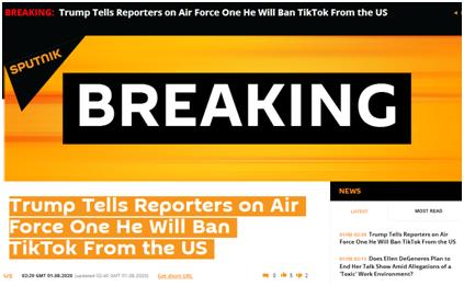 威胁又来!特朗普刚刚宣布:将禁止TikTok在美国运营